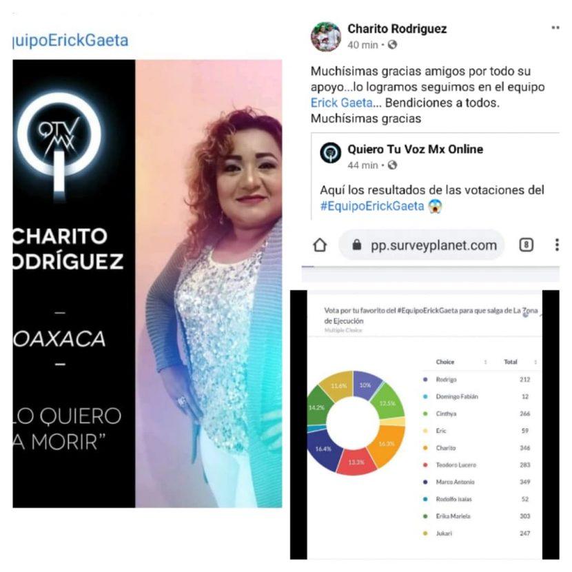 """Dentro de las finalista Charito Rodriguez en """"Quiero Tu Voz Mx Online"""""""