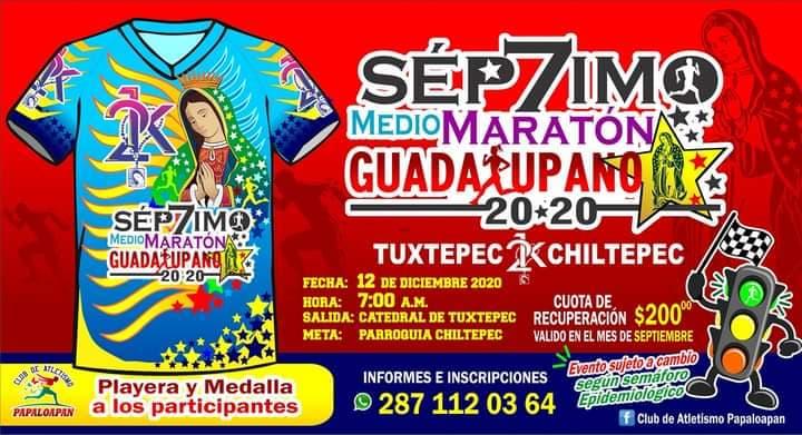 Llevarán a cabo séptimo medio maratón Guadalupano 2020