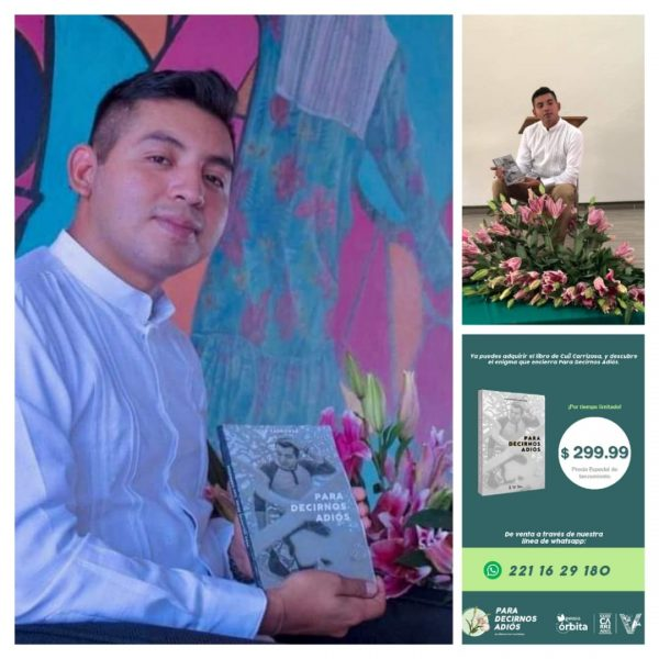 """El Chinanteco Cuitláhuac Amador Sánchez, presenta su libro """"Para decirnos adiós"""""""