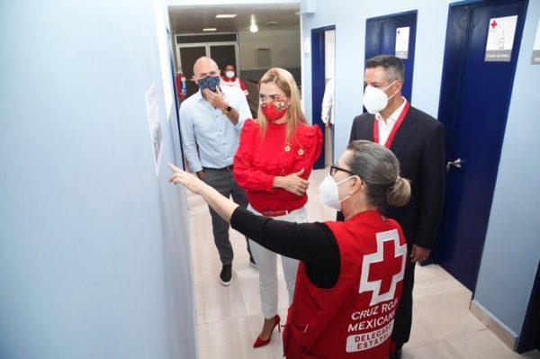 Inaugura AMH ampliación y remodelación del área de hospitalización de la Cruz Roja Mexicana en Oaxaca
