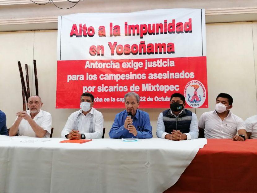 Amagan antorchistas con movilizarse el 22 de octubre si no hay diálogo con el gobernador