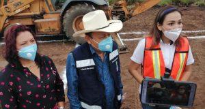 Avanzan los trabajos en el nuevo panteón de Loma Bonita