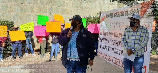 Continúa CSEIIO en huelga, exigen audiencia con el Gobernador