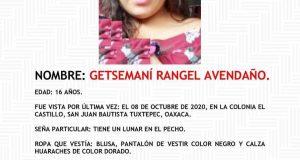 Desaparece otra menor de edad en Tuxtepec, desde el 8 de octubre
