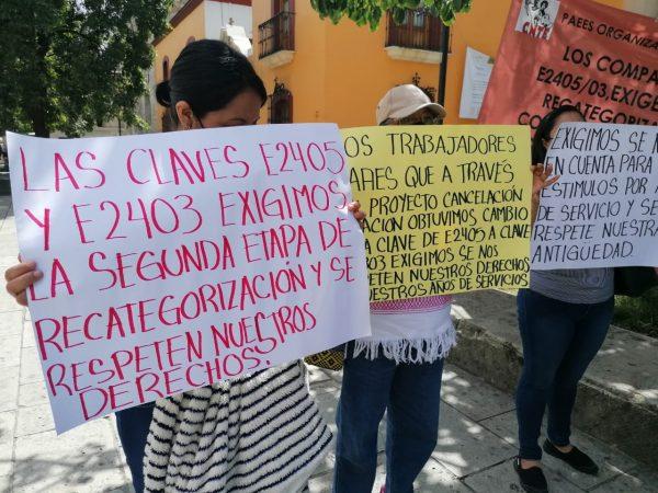Docentes de Nochixtlán exigen que se continúe con proceso de recategorización
