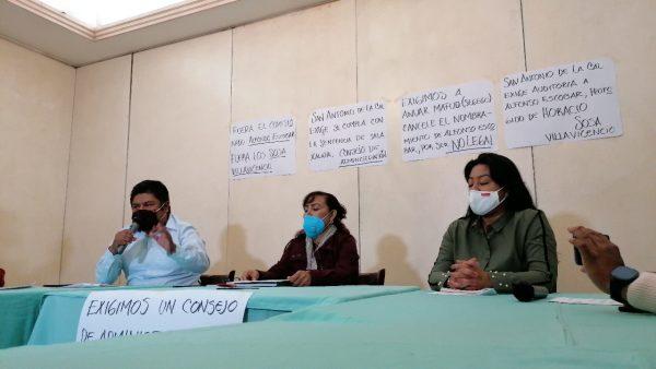 En San Antonio de la Cal piden salida de Comisionado y se cree un Consejo Municipal