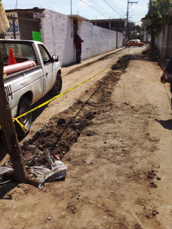 "Terminan rehabilitación de drenaje en la ""Santos Degollado"", en próximo días pavimentarán"
