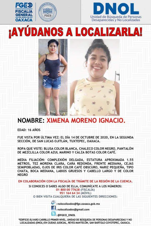 Siguen las desapariciones de mujeres en la Cuenca, ahora fue en Ojitlán