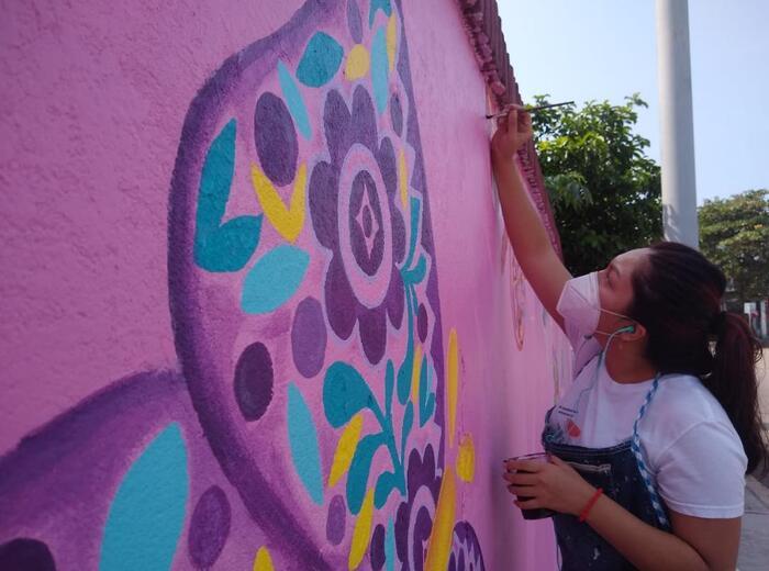 Casa de la Cultura en Tuxtepec, se suma a iniciativa de mural   conmemorativo al valor y respeto de las mujeres