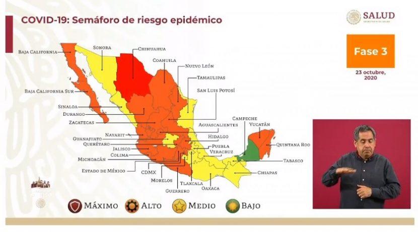 Oaxaca vuelve a semáforo amarillo informó el gobierno federal