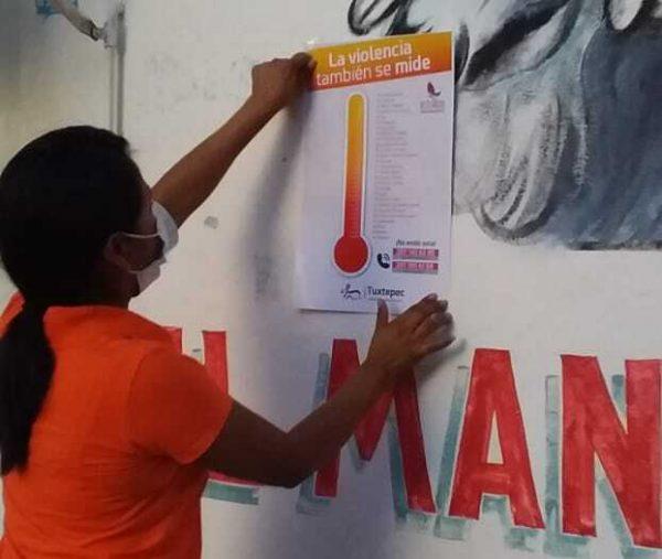 "Instituto Municipal de la Mujer de Tuxtepec, difunde el ""Violentómetro"""