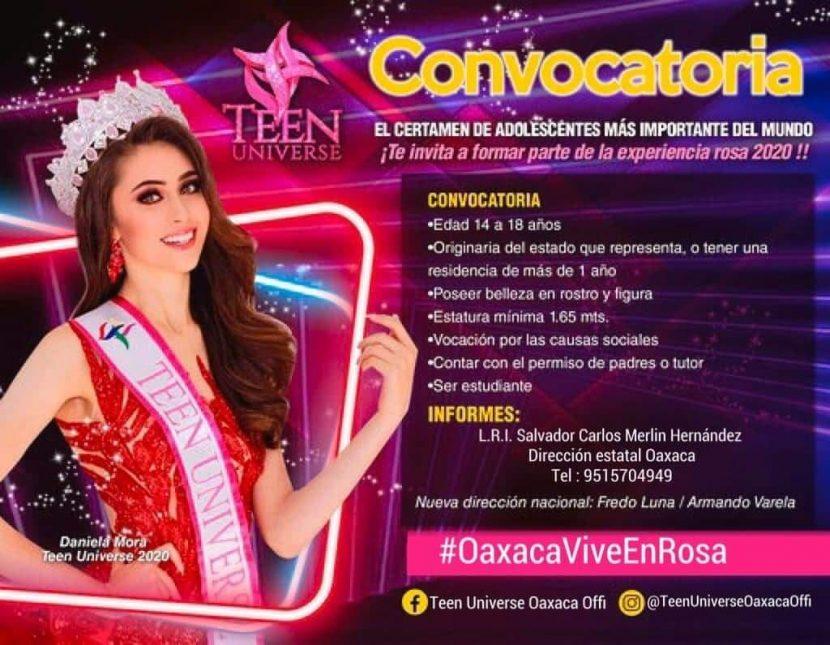 """Buscan a las representantes Oaxaqueñas de """"Teen Universe México"""""""