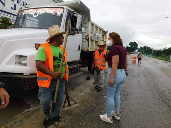 San Jacinto Amilpas progresa con obras que benefician a toda la población