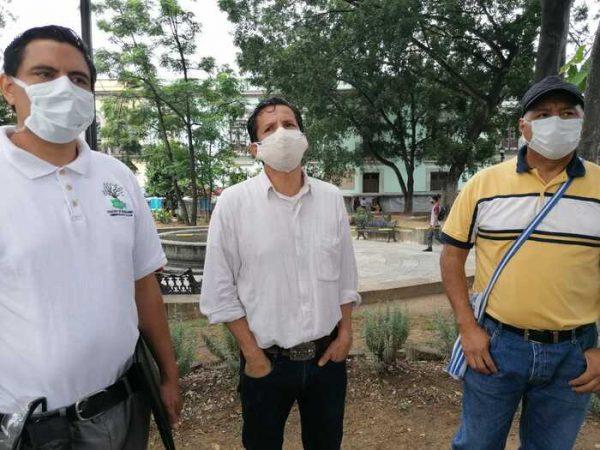 Ambientalistas y autoridades municipales supervisan y verifican arbolado del Zócalo y Alameda León en Oaxaca