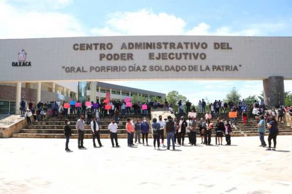 Sindicatos del Poder Judicial del Estado de Oaxaca, toman Ciudad Judicial