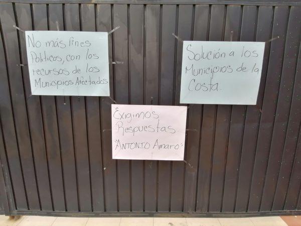 Municipios de la costa afectados por desastres, denuncian desvíos de apoyos