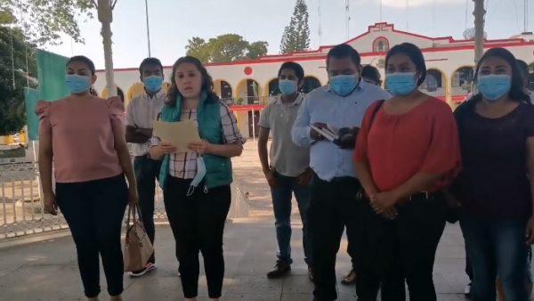 Despidos de personal del ayuntamiento de Tuxtepec fue injustificado: Ex trabajadores