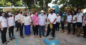 Benefician a escuelas de Loma Bonita, con obras superiores a los 3 mdp