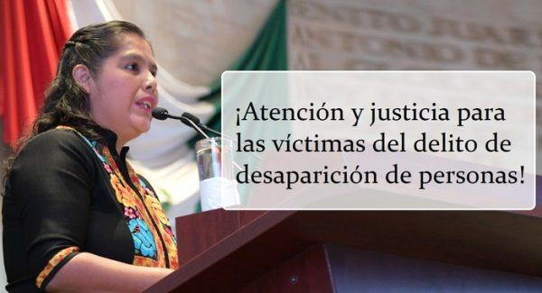 Familiares y víctimas de desaparición de personas tendrán justicia: Diputada Laura Estrada Mauro