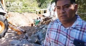 En San Bartolo, reparan socavón con recursos de la comunidad
