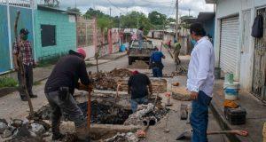 """Gobierno de Tuxtepec trabaja en la reparación del pozo """"San Rosendo"""""""