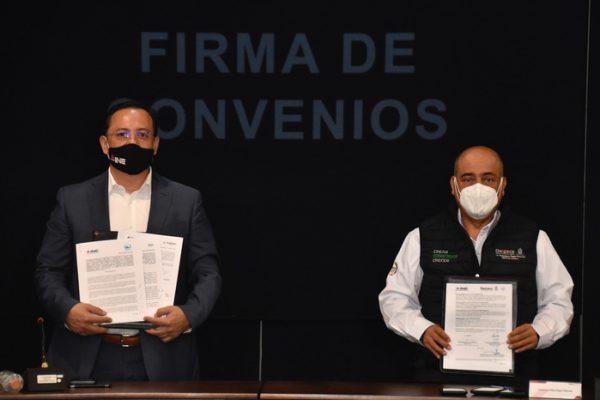 Firman IEEPO y el INE convenio de colaboración para la coordinación de estrategias en el proceso electoral 2021