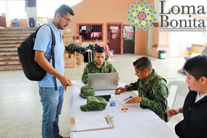 Suspenden sorteo del Servicio Militar Nacional 2020, en Loma Bonita