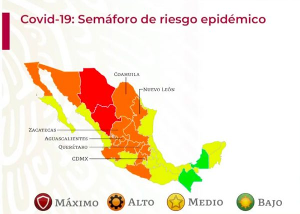 Semáforo para iniciar diciembre: solo dos estados en rojo