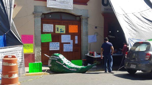 Cumple SITYPS cuatro días de protesta contra Servicios de Salud de Oaxaca