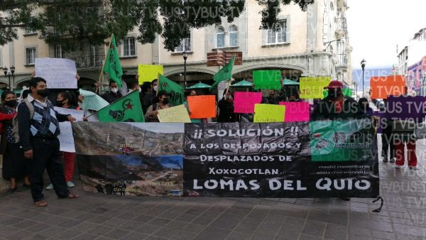 Desplazados de Lomas del Quio, exigen justicia o que renuncie el Fiscal