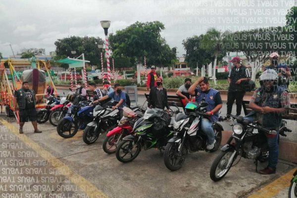 Motociclistas de la Cuenca se unen para ayudar a Tabasqueños, instalan centro acopio