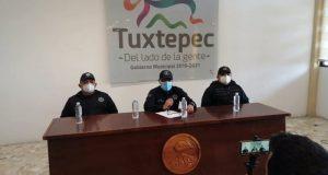 Presenta Dirección de Seguridad balance de delitos ocurridos en los últimos días en Tuxtepec