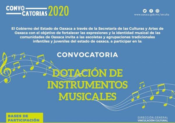 Anuncia Seculta la Convocatoria de Dotación de Instrumentos Musicales