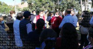 Sección 35 amplían su protesta en la ciudad de Oaxaca