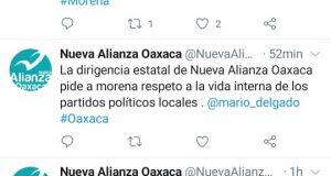 Desmiente Nueva Alianza Oaxaca alianza con Morena, pide respeto