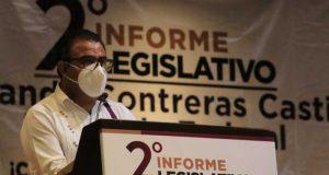 El diputado federal, Armando Contreras Castillo, se comprometió en seguir con su trabajo legislativo a favor de la transformación del país