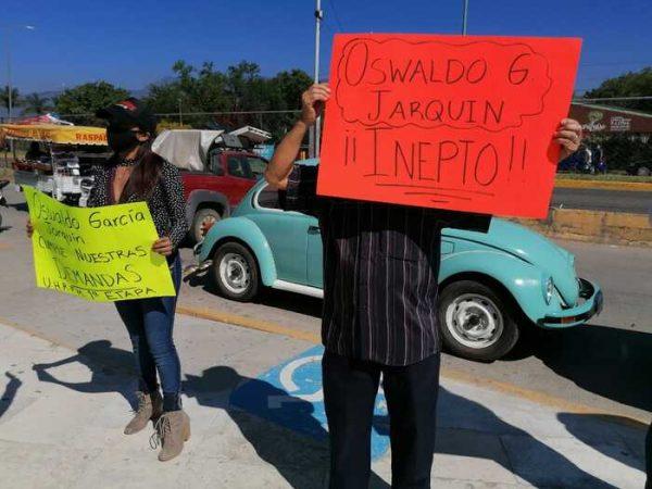 COMVIVE de unidad habitacional Ricardo Flores Magón, califican de inepto a edil de Oaxaca
