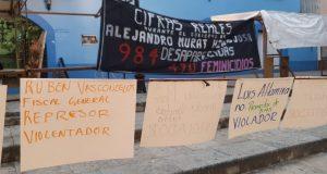 Protestas en Oaxaca contra violencia de género