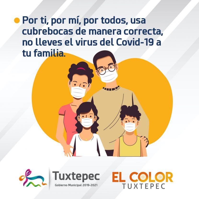 Gobierno de Tuxtepec pide disciplina en medidas sanitarias para evitar repunte de Covid