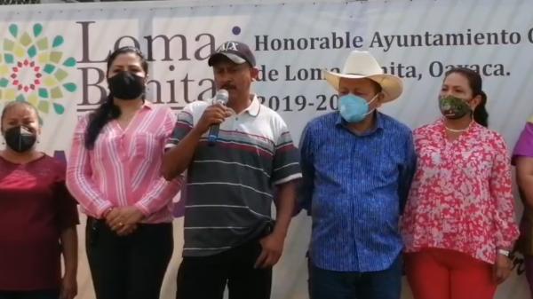 Prioriza Presidente de Loma Bonita, abastecer de agua a comunidades