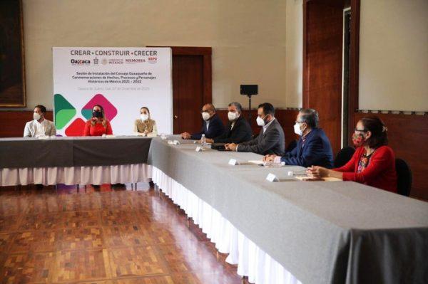 Instala Alejandro Murat Consejo Oaxaqueño de Conmemoraciones de Hechos, Procesos y Personajes Históricos de México 2021-2022