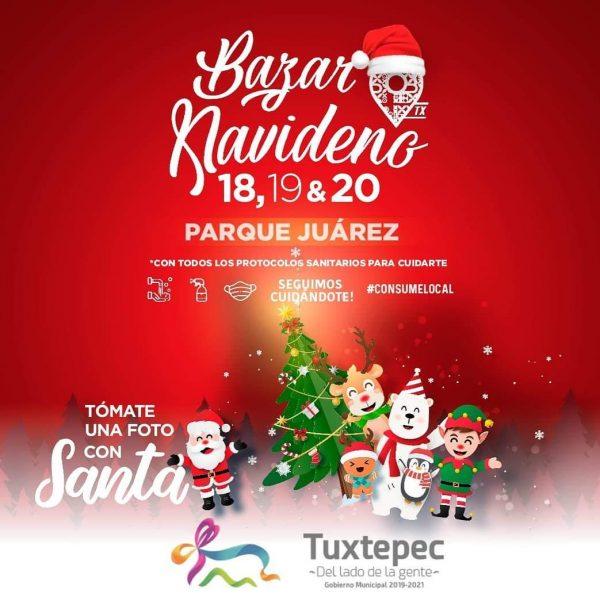 "Del 18 al 20 de Diciembre se realizará el ""Bazar Navideño Consume Local TX"" en Tuxtepec Oaxaca"