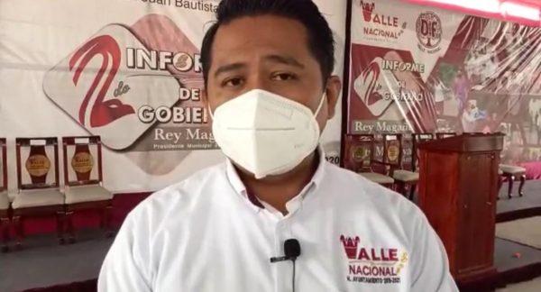 Rey Magaña no buscará la reelección; asegura que su compromiso con Valle Nacional fue por 3 años