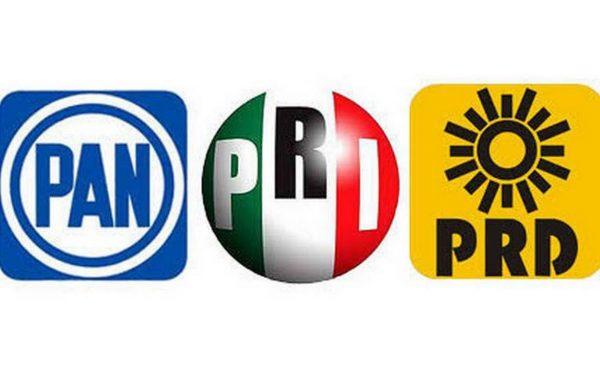 PAN, PRI y PRD podrían ir en coalición en elección del 2021