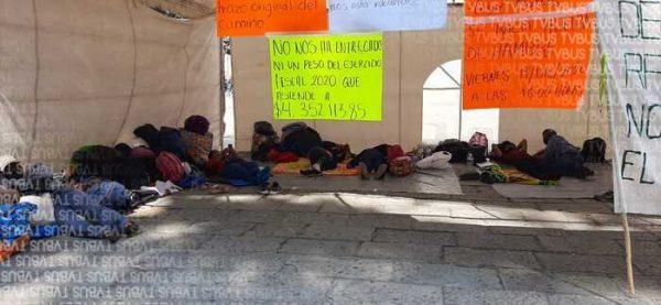 Pobladores de Mixistlán, cumplen más de 60 horas en huelga de hambre