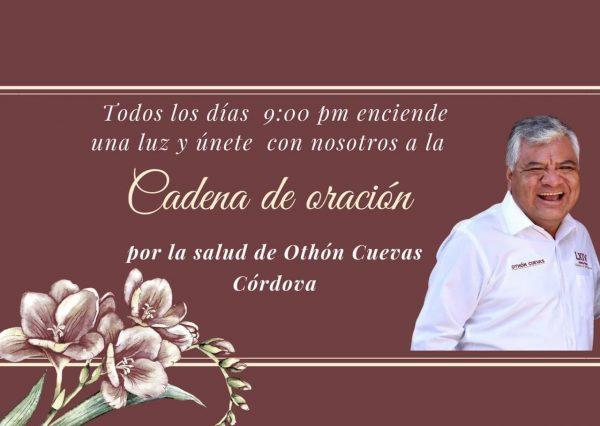 Piden orar por Diputado Othón Cuevas, quien se encuentra internado por Covid