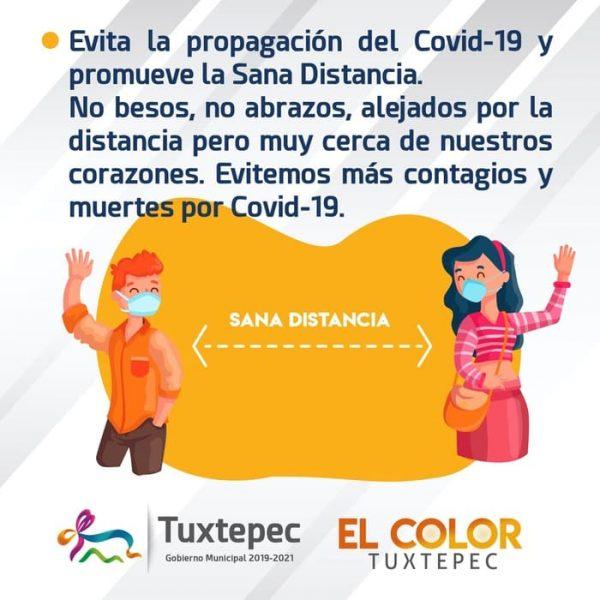 Responsabilidad ciudadana reducir contagios de Covid-19: Gobierno de Tuxtepec