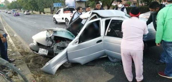 Brutal choque deja 2 muertos y 2 lesionados en Oaxaca