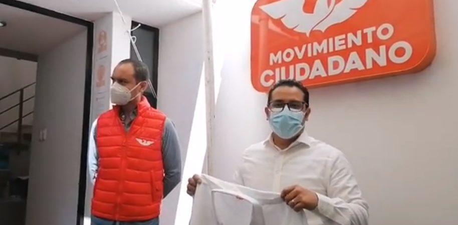 David Aguilar Hernández líder de la CROC, se registra como precandidato de MC