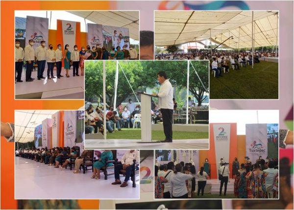Ante el pueblo de Tuxtepec, Noé Ramírez rinde cuentas del ejercicio 2020